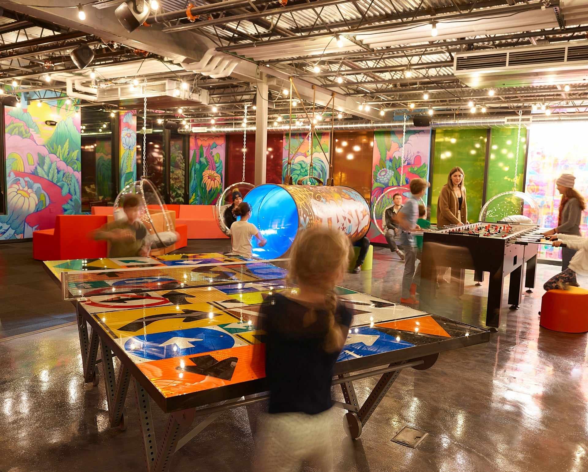 The Collective Game Lounge - This artistically inspired play space draws kids of all ages (parents included) with its reimagined arcade games, interactive art and a 130,000 ball pool.